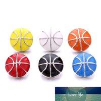 Esmalte Snap Jewelry Basketball Pattern18mm Jengibre Botón Snap de DIY Pulsera Collar Joyería Haciendo ACC PARA HOMBRES Venta al por mayor