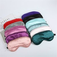 Imitado Silk Dormir Máscara Máscara Sleep Cuchded Shade Capa de Olho Capa de Olho Cuidado Cuidado Travel Portable Sono Máscaras Relaxamento Venda
