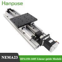최고의 가격 NEMA23 스테퍼 모터 HPA150 리니어 모듈 효과적인 스트로크 300-1000mm 선형 가이드 CNC 용 SBR16 볼 스크류