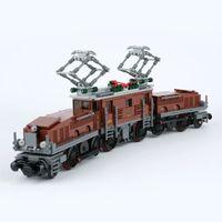 Yaratıcı uyumlu 10277 1271 adet timsah lokomotif yapı taşları oyuncak Noel hediyesi