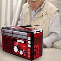 راديو مشغل MP3 هوائي TF USB AM FM SW الصمام المحمولة في الهواء الطلق قابلة لإعادة الشحن المنزل الرجعية هدية عالية الحساسية 1