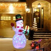 밝은 풍선 크리스마스 눈사람 인형 LED 마당 소품 LED 가벼운 장난감 장식 가구 장식품 201127