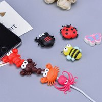 Cute Insect Design Cable Charger Date Cable Protector Cover for iPhone Cute Cartoon Animal Charging Cord Cover with OPP Bag