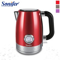 1.7L Electric Kettle Cordless With Water Temperature Meter 2200W Household Kitchen Fast Heating Boiling Teapot Pot 220V Sonifer