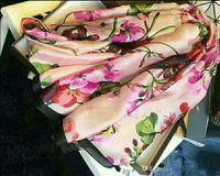 Hohe Qualität Seidenschal Mode Schal Damen Dekorative Schal 180 * 90cm Europäische Art Krawatte