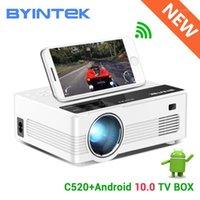 BYINTEK C520 Mini HD 150 inç Ev Sineması Taşınabilir LED Projektör Beamer Telefon için 1080 P 3D 4 K (İsteğe Bağlı Android 10 TV Kutusu) 1