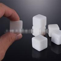 Quadratische Form Whisky Stones Bars Küche Natürliche Kristall Stein Bar Zähler Weiß Transparenter Marmor Neue Ankunft 1 7 By L1