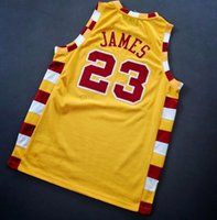 Personnalisé # 23 James Basketball Jersey Toutes toutes les taches 2xs-3xl 4XL Nom ou numéro de Top