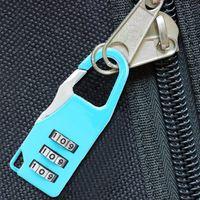 Mini Dial Difit Number Code Hasło Kombinacja Kłódki Bezpieczeństwo Podróże Bezpieczne Zamek dla Kłódki Blokada Bagażu Siłownia 6 Kolor Darmowa Wysyłka
