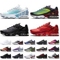 sapatos Nike Air Max Plus 3 Tuned Air Tn Plus 3 AirMax Tn 3 Tênis masculino - tênis feminino Pacote de pára-quedas laser azul OG preto vermelho carmesim Tênis masculino