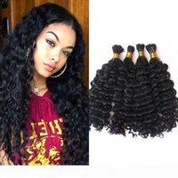 Бразильская глубокая волна объемных волос человеческих волос для плетения натуральный цвет 4 пакета волос навсегда без уток Фефшин