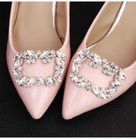 أحدث كبير النمساوي كريستال اللؤلؤ اليدوية النساء حذاء الزفاف مقاطع الزفاف سبيكة العروس وصيفة الشرف حزام مشبك