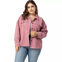 Spring Autumn Jackets Women Turn Down Collar Long Sleeve Casual Coat Outwear Pink Plus Size Women Clothing