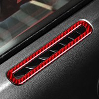 Car Interior Carbon Fiber Car Door Air Conditioner Outlet Vent Stickers for Ford Mustang 2015-2019 Car Accessories