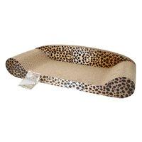 Consiglio Grinding Harden carta ondulata del gatto dell'animale domestico giocattolo gatto Divano Claws con Catnip (grande) terroso Ye