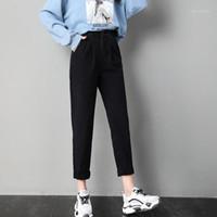 Jeans pour femme Boyfriend Donna Femme Maman Taille haute taille Vaqueros Mujer Jean Femme Denim Femme Pantalons 2021 Pantalon Femme Cowboy pour Wome
