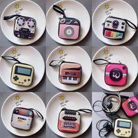 Neue kreative tinplate Geldbörse Mini-Schlüsselkasten retro Aufzeichnungsband Gepäck Muster Kopfhörer Münze Aufbewahrungstasche AHF2405