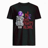 Мужские футболки никто не борется в одиночку бенневегель Альцгеймеру Осознание футболки1