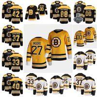 2021 Reverse Retro Boston Bruins Jerseys Kuraly Sean Lauzon Jeremy Lindholm Ph Marchand Brad Charlie McKegg Greg Costume Costume
