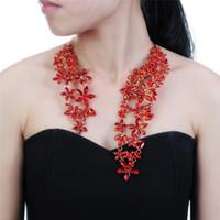 Big Collier de luxe pour Femmes Mode Neufty Bijoux avec cristaux de fleurs et joyau Maxi State Cuker 1 PC Cuff Collier Collier