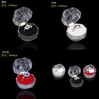 Acrilico Delicato scatola di gioielli di moda per anello braccialetto pendente perline perline orecchini perni porta anello scatola di visualizzazione scatole di gioielli imballaggio 105 m2