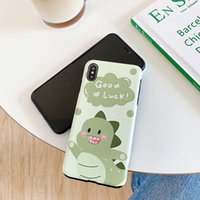 Cute Dinosaur is Suitable for iPhone 11Pro Max Mobile Phone Case for iPhone7 8plus Couple Soft Case