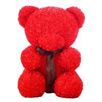 20 cm polistirolo polistirofoam bianco schiuma orso stampo rosa teddy bear bianco cuore cuore regali festa festa decorazione di nozze1