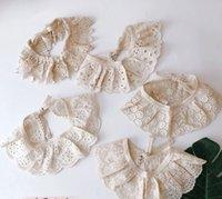 INS-Baby-Spitze höhlen Schals Dekorative Spitze Schalkragen Kinder Spitzehäkelarbeit wickelt KIDS Schal Schal A4687