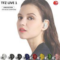 TFZ, LIVE 1 dans l'oreille filaire HIFI écouteurs dynamique conducteur Moniteur écouteurs antibruit bouchons d'oreille amovible Câble 0,78 2 broches