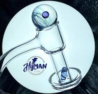 Großhandel Vollschweißen Terpenschlüssel mit Perlen Ball Rauchen Quarz Banger Nagel domellose Nägel Vakuumbanger für Glas Bong Rauch Wasserleitungen