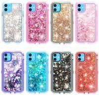 Para iPhone 12 11 Pro Max XR Bling Star Glitter Agua Estuche de teléfono líquido S20plus S20 Ultra Stylo 4 Robot Defender Crystal A