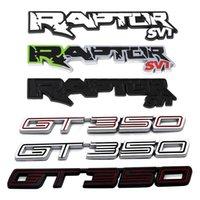 Autocollant de modification de voiture pour Ford Raptor Svt Mustang Shelby GT350 GT F150 F250 F650 F350 F450 F550 Métal 3D Emblème côté arrière