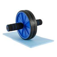 Fopcc عجلة البطن الأسطوانة البطن العضلات مدرب رياضة ممارسة تجريب معدات الجسم المشكل بناء بكرات AB مع وسادة Y201011