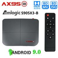 AX95 DB Android 9.0 TV Box Amlogic S905X3 4GB+32GB 64GB Support Dual 2.4G+5G Wifi 8K