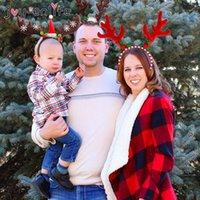 Рождественские украшения олень рог рога голова для веселых вечеринок костюм год Po Booth реквизит Navidad Kerst1