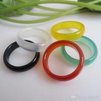 Ringe für Frauen natürliche Achat-Jade Trauringe für Frauen Männer Liebe Weihnachtsgeschenke bijoux natürliche Edelstein-Ring