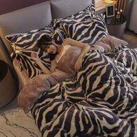 4-х частей костюма утешительница постельное белье зима теплая одеяла крышка фланель кровать льняной постельное белье коралловый бархатный двухсторонний молочный бархат