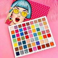 Glitter Göz Farı Pallete Parlak neon Pigment Su geçirmez Göz Farı süren 63 Renkler Denizkızı Kabarcık Mat Göz Farı Paleti Uzun