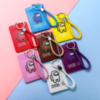 학생 카드 홀더 게임 애니메이션 슬롯 포켓 PU 가죽 지갑 학생 버스 ID 신용 카드 홀더 G10502에 대 한 끈 손목 홀더