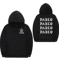 Mi sento come Paul Pablo Kanye West sudore felpe homme uomini Felpa con cappuccio Hip Hop Streetwear Hoody pablo hoodie C1011