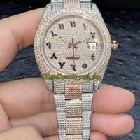 Eternity V3 Upgrade Version 126331 126334 116244 Diamants arabes Dial Eta A2824 Automatique Mens Montre Diamant Glafed Out Plein Ton Ton Steel 904L Acier