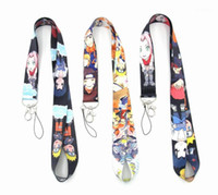 10 unids por lote Naruto Teléfono celular Lanyard Llaychains Anime Animation Naruto Lyardard For Keys Badge Topers Badge1