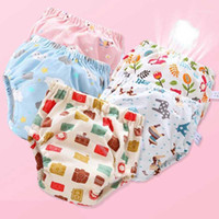 Umweltfreundliche Baumwolltuchwindel ökologische Töpfchen-Trainingshose Windeln für Kinder Höschen wiederverwendbare Windeln Baby Neugeborenes Soft1