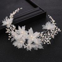 Acessórios de cabelos de casamento artesanais na moda cor de prata cor de prata rhinestone cabeça faixa princesa tiara cabelo nupcial jóias tiara