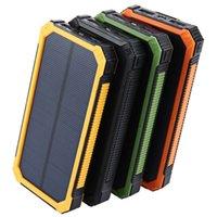 Caricabatterie solare 15000mAh Banca di alimentazione 4 colori Powerbanks Batteria per telefoni cellulari Compresse PC PC POVOVERBANK Smartphones Smartphones di buona qualità