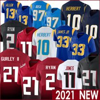 2 Matt Ryan 21 Todd Gurley II 11 Julio Jones 97 Joey Bosa 33 Derwin James JR 13 Keenan Allen Futbol Formaları