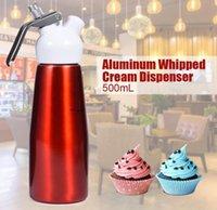 500ML N2O الصيدلي كريم الجلاد القهوة حلويات صلصات زبدة الجلاد سبائك الألومنيوم كريم رغوة أدوات صانع كعكة الشحن البحري CCA12608
