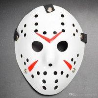 Retro Jason Masken Horror Lustige volle Gesichtsmaske Bronze Halloween Cosplay Kostüm Masquerade gruselige Hockey Partei liefert DBC VT0958