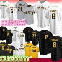 피츠버그 맞춤형 8 Willie Stargell Baseball Jersey 55 Josh Bell 21 Roberto Clemente 6 Starling Marte 24 Chris Archer 27 Kent Tekulve Moran