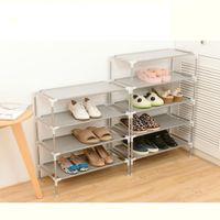 Новый нетканый материал для хранения шкафа для хранения вешалки для хранения вещей 2/3/4/5/6 слои выбрать полку DIY домашняя мебель 201109
